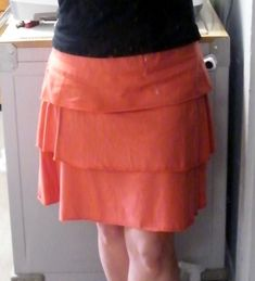 Tiered knit skirt