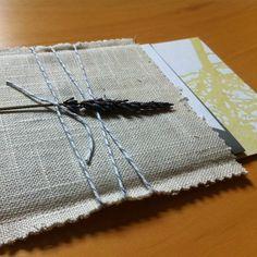 Wedding Invitations in hand sewn burlap pocket by paper krush