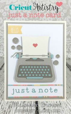 Cricut Artistry just a note card and a giveaway!