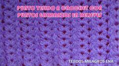 Punto Crochet N° 23 para prendas tejidas de invierno en puntos garbanzos...