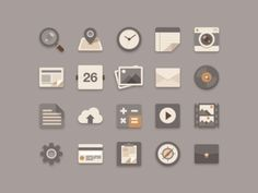 Flat Icons Brownie Theme I want to eat a brownie while working.and trendy flat icons is hot right now. I made 'Flat Icons Brownie Theme'. Icon Design, Web Design, Graphic Design, Happy Design, Design Blogs, Site Design, Flat Icons, Flat Design Icons, Flat Ui