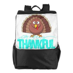 Thanksgiving Day Turkey Daypack Travel Backpack For Men Women Boy Girl -- See this awesome item shown here  : Day backpacks