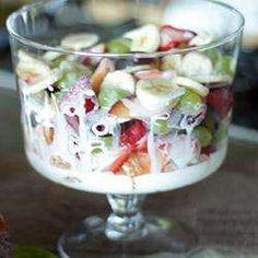 Salada de frutas com nozes