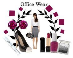 Office Wear by pamela-heinbaugh on Polyvore featuring BOSS Black, GUESS, Reeds Jewelers, Sue Devitt, Lancôme, Kate Spade and Essie