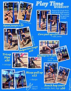 Playground park workout by @Cassey Ho #fitness #workout