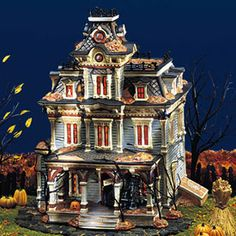 dept 56 halloween village have got quite a few of these houses put