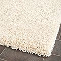 $129 on Overstock Perfect for the basement TV area Cozy Solid Ivory Shag Rug (5'3 x 7'6)   Overstock.com Shopping - The Best Deals on 5x8 - 6x9 Rugs