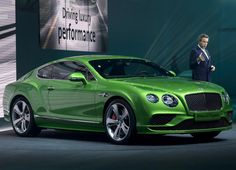 Bentley shows off its refreshed Continental GT Speed in Geneva, with the coupe sporting a new bumper and a more conservative grille are two hallmarks of the updated design.