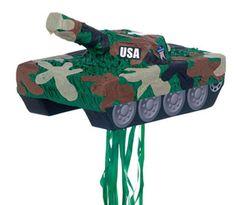 Army party game - tank pinata