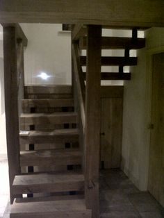 Another view of the rustic staircase