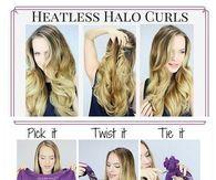 Heatless Halo Curls