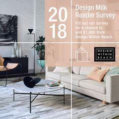 Design Milk 2018 Reader Survey: Enter to Win $1,000 Gift Card from DWR , http://www.interiordesign-world.com/design-milk-2018-reader-survey-enter-to-win-1000-gift-card-from-dwr/