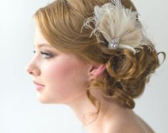 Fascinator de la pluma nupcial boda tocado de la pluma