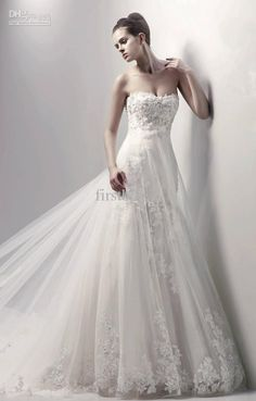 Wholesale Handcrafted 2012 COSTURA COLLECTION New luxury Lace Applique designer Wedding Dresses Style, Free shipping, $125.44-145.6/Piece | DHgate