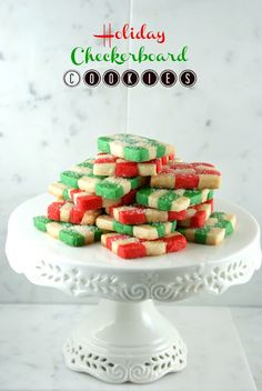 Authentic Suburban Gourmet: Holiday Checkerboard Cookies | 2nd Annual Great Food Blogger Cookie Swap
