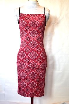 d4ca53af9a6 Afkter Red Stretch Bodycon Dress Size S