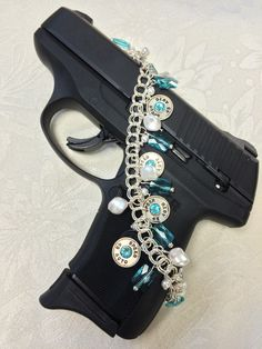 Zenja Bullet Jewelry ~ One of our most ellegant bracelets from the Courtney's Colour Collection.  Turquoise and Pearl on Silver.
