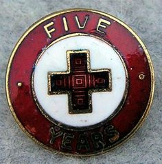 """The number is at the top of the outer circle, """"YEARS"""" is at the bottom in the 5 to 20 year pin. Cross Love, Nurse Love, American Red Cross, Challenge Coins, Nurses, 5 Years, Badges, Rat, Charity"""
