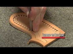How to Stamp Leather Patterns Leathercraft Tutorial | Custom Leather Designs - YouTube