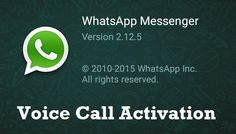 Recently WhatsApp has added the most anticipated free voice calling feature for Android users. So here is the step by step guidance to Activate WhatsApp voice call feature for android. Youtube Secrets, Latest Technology Updates, Whatsapp Messenger, Blogger Tips, Simple Way, The Voice, How To Make Money, Android, Activities