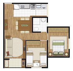 4 Bedroom House Designs, Hotel Bedroom Design, Home Bedroom, Sims 4 House Design, Sims House, Small House Plans, House Floor Plans, Studio Type Apartment, Sims Freeplay Houses