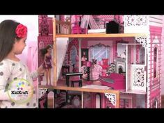 KidKraft Amelia Dollhouse 65093 The Perfect Pink Dollhouse For Barbie is a great dollhouse by Kidkrat for Barbie size dolls it's also very popular with monsterhighdolls to little girls will love this dollhouse #dollhouse #woodendollhouse #barbiedollhouse #kidkraftdollhouse #monsterhighdollhouse http://wooden-toys-direct.co.uk/girls-toys/dolhouses.html