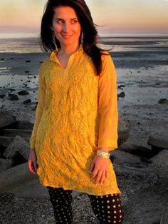 Indian Ethnic Kurti by OOAS. Model: Madalina