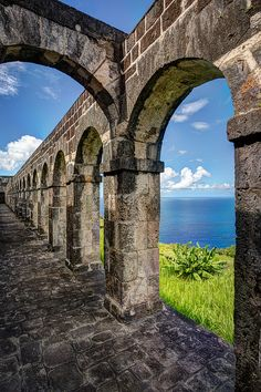 Basseterre, St Kitts. Travel the coastal highway to the Brimstone Hill Fortress. This historic mountainside fortification is home to a museum, gun ports and bastions, and spectacular views.