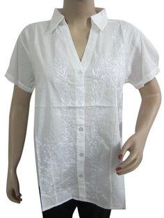 White Cotton Shirt Floral Embroidered Boho Blouse Top Medium Mogul Interior,http://www.amazon.com/dp/B00CGW1AYK/ref=cm_sw_r_pi_dp_N62jsb11FQWZYTPG