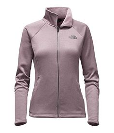 Stay warm and comfortable during cold conditions with The North Face Agave Full Zip Jacket for Women in Quail Grey Heather. With its durable water repellent finish and soft, fleece-lined interior, this jacket is perfect for outdoor activities. Types Of Jackets, Jackets For Women, T Shirts For Women, Jacket Types, Men's Jackets, North Face Women, The North Face, North Face Fleece