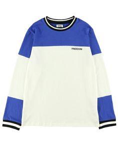 【ZOZOTOWN】DING(ディング)のTシャツ/カットソー「DING/FREEDOMバイカラーロングTシャツ」(DG16AW-003)を購入できます。