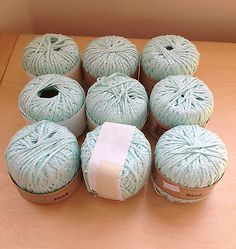 Berger du Nord Tisse Cotton Viscose Yarn Made in France Lot of 9 1.75 oz Skeins