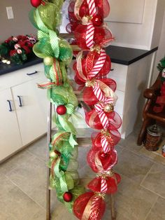 Christmas Deco Mesh Garland  Red/Gold and by CreativityCravings, $50.00