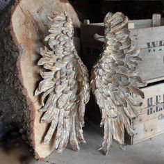 Angel Wings - Antique Vintage Style Wings | Cowshed Interiors