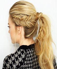 French braid ponytail hairstyles 2016
