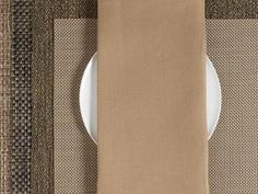CHILEWICH Single-Sided Linen Napkins-Set of 8 | Caramel