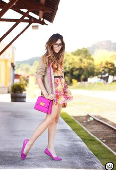 Street Style Inspiration: Spring 2014 Maybe dress needs to be longer than purse?  No?