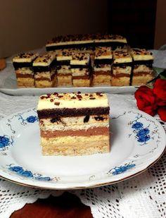 Fantázia szelet, egy süti ami annyira fantasztikus, hogy nem lehet megunni! - Ez Szuper Cake Bars, Tiramisu, Oreo, Sweets, Cookies, Ethnic Recipes, Food, Beverages, Crack Crackers