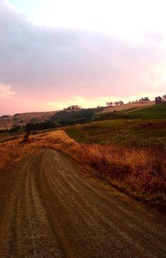 Gaste kan afstap na die dam, gaan wandel, die uitsig bewonder, op die sonstoele ontspan of net die rustigheid geniet. Gaste mag dalk wild soos duikers, ribbokke, bosbokke of selfs 'n baba-rooikat gewaar. #farmlife #dirtroad #kwazulunatal Midland Meander, Kwazulu Natal, Farm Life, Country Roads, Cottage, Places, Cottages, Cabin, Farmhouse