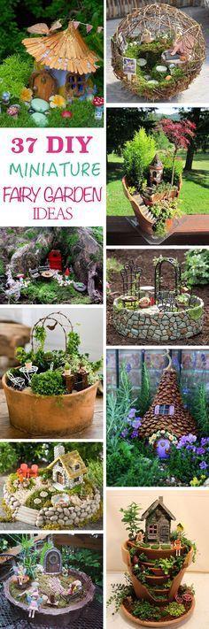 DIY Ideas How To Make Fairy Garden | GARDEN | Pinterest | DIY ideas ...