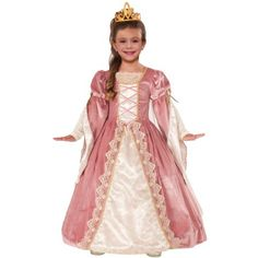 Check out Girl's Victorian Rose Costume - Renaissance Girls Costumes from Wholesale Halloween Costumes Fancy Costumes, Girl Costumes, Halloween Costumes For Kids, Easy Halloween, Disney Costumes, Halloween Gifts, Rose Costume, Costume Dress, Pink Costume