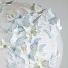 Butterfly lampshade    Make a kaleidoscope of butterflies to flutter across a lampshade.