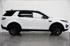 Land Rover discovery sport white on black