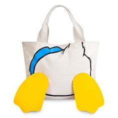 Donald Duck Face and Feet Tote Bag