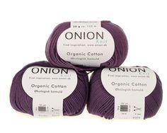 Lilla økologisk bomuldsgarn fra Onion - 35 kr. per 50 gram