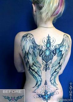 Irish Tattoos, Hot Tattoos, Pretty Tattoos, Unique Tattoos, Beautiful Tattoos, Body Art Tattoos, Tattos, Sleeve Tattoos, Angel Wings Tattoo On Back