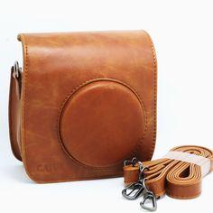 Amazon.com : CAIUL PU Leather Fujifilm Fuji Mini 25 Film Fuji Instax Mini 25 Case---Brown