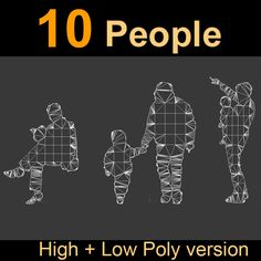 10 Human Silhouettes Model available on Turbo Squid, the world's leading provider of digital models for visualization, films, television, and games. Silhouettes, High Low, Models, 3d, Role Models, Silhouette, Modeling, Model, Templates