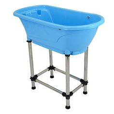 Option for a dog wash non slip ramp open front tub tray and spray flying pig pet dog cat washing shower grooming portable bath tub blue 3725 solutioingenieria Image collections