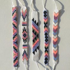 armband Items similar to seed bead friendship bracelet - silver, neon peach, orchid, evergreen on et Thread Bracelets, Diy Bracelets Easy, Bead Loom Bracelets, Summer Bracelets, String Bracelets, Macrame Bracelets, Pandora Bracelets, Ankle Bracelets, Macrame Bracelet Patterns